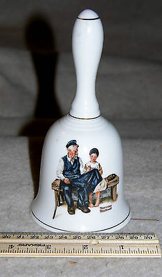 """Norman Rockwell """"The Light House Keeper's Daughter"""" Ceramic Bell © 1985"""