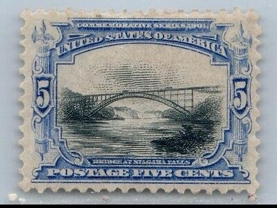 Goldpath Us Stamp, Sc# 297, Hinged, Thin