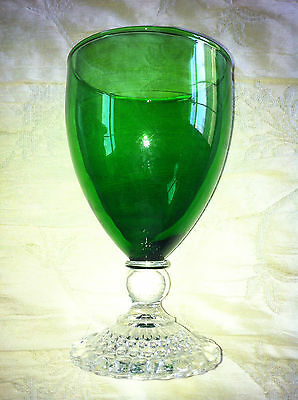 "Vintage ( 40s 50s 60s ) Glass Anchor Hocking Forest Green 5.5"" Tall"