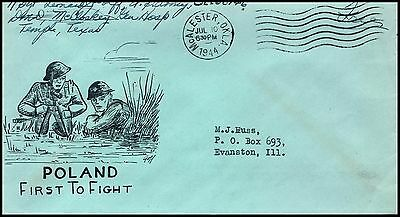 Goldpath Us Wwii Patriotic Cover 1945, Poland  _Cb