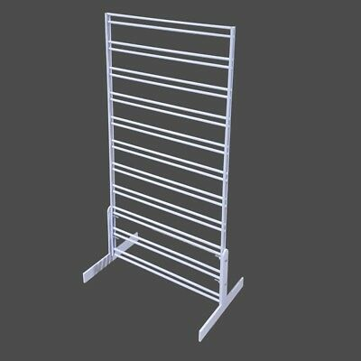 Countertop   Slat Grid Stand Double Sided Display White