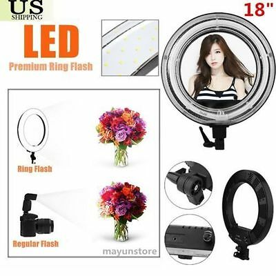 """New 18"""" Dimmable Photo Video Continuous Ring Light Kit Incl Carry Bag US STOCK#W"""