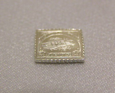 Solid Silver Stamp Usa 1918 24-Cent Curtiss Jenny Invert United States America #