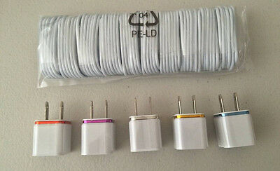 Sync Charging Kits - 10 Cords + 5 Home AC Wall Chargers for iPhone 5 6 7 s plus