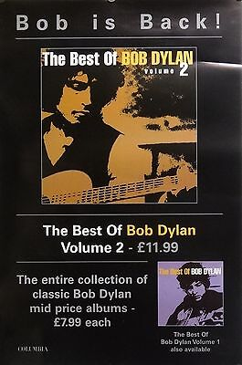 BOB DYLAN 20X30 The Best Volume 2 Music Promo Poster