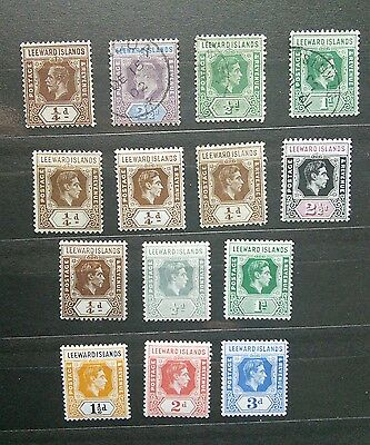 leeward islands stamp lot of mint and used in vf condition