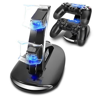 PS4 Controller LED Charger Dock Station Dual USB Charging Stand