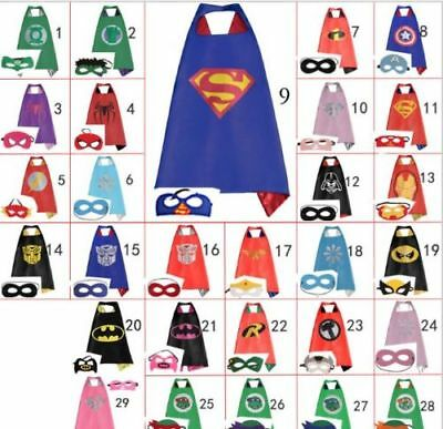 Superman Kids Cape!!!! Mask Superhero Boy Girl Party Costume