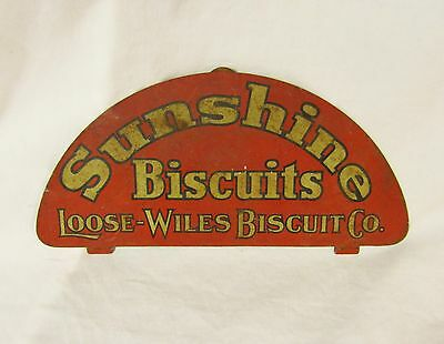 Antique Sunshine Biscuits Loose-Wiles Biscuit Company Insert Advertising Sign