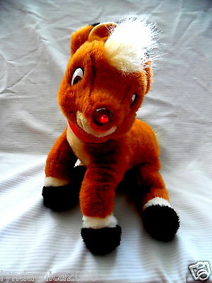 Large RUDOLPH THE RED NOSED REINDEER Plush Toy ***Works amazing***