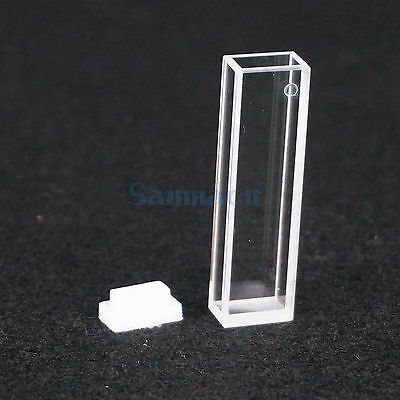 5mm x 10mm Path JGS1 Quartz Cuvette Cell With Lid For Fluorescence Spectrometer