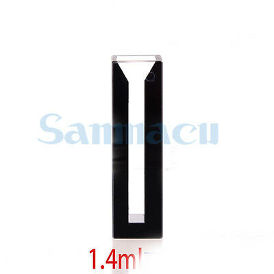 1400ul 4mm Inside Width Micro JGS1 Quartz Cuvette Cell With Black Walls And Lid