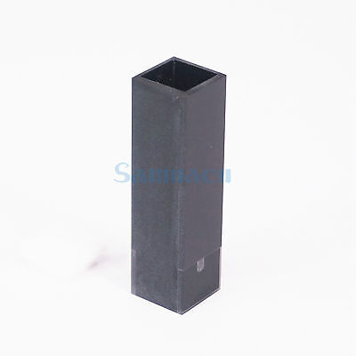 50ul 10mm Path Length Sub-Micro JGS1 Quartz Cuvette With Black Walls And Lid