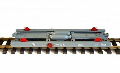 Zenner Trolley G Scale, for track II (64mm) Car, 300mm simple Model, gray