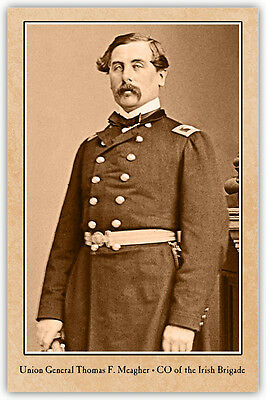 Union Irish Brigade's Thomas Meagher Vintage Photograph A++ Reprint Cabinet Card