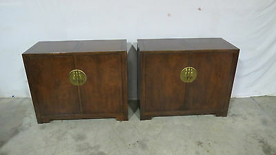 Pair Baker Servers Chests Dining Room Set Mid Century