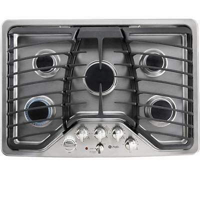 """GE PROFILE Stainless Steel 30"""" Wide 5-Burner Gas Cooktop, Model PGP953SETSS, NEW"""