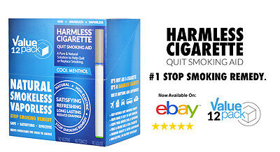 BEST VALUE / Harmless Cigarette Natural Quit Smoking Aid -Cool Menthol (12 Pack)