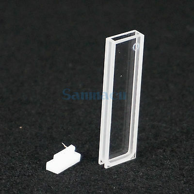 2mm Path Length JGS1 Quartz Cuvette Cell With Lid For Uv Spectrophotometers