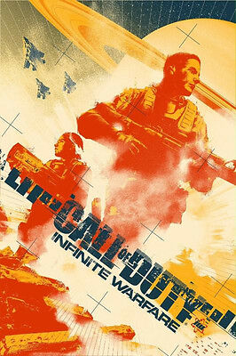 SDCC CALL OF DUTY INFINITE WARFARE Mondo Poster, #1140/3000 Comic-con Exclusive!