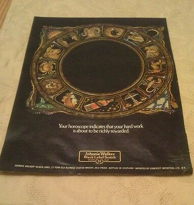 Johnnie Walker Black Label Scotch advertising  1977-  $1 COMBINED SHIPPING