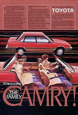 1983 Toyota Camry Car Ad Family Camry Oh What a Feeling Wall Decor
