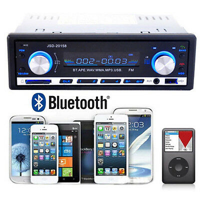 Bluetooth Car Stereo Audio 1DIN In-Dash FM Aux Input Receiver SD USB MP3 Radio@K