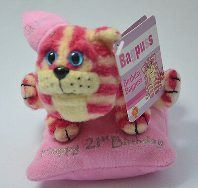 Bagpuss Happy 21st 21  Birthday Gift Soft Toy Plush on Bean Bag NEW NO TAGS