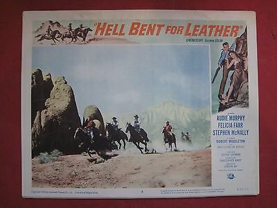 Lobby Card HELL BENT FOR LEATHER 1960 AUDIE MURPHY - FELICIA FARR - S.MCNALLY