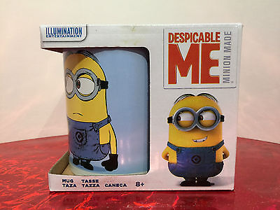 Despicable Me Minions Blue White Ceramic Mug New In Box