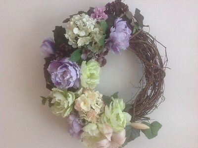Housewarming Wreath, Summer Farmhouse Meadowgarden, French Countryside, Cottage