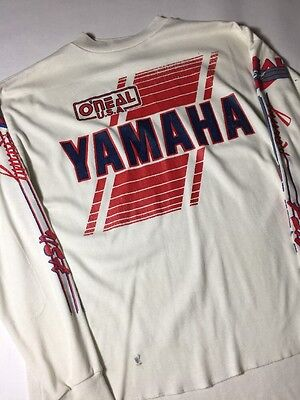 Vintage O'Neal Yamaha Dirt Bike Moro Racing Long Sleeve T Shirt L