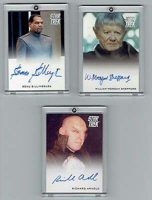 Star Trek Movie  Autographed Actor Cards Set Of 3