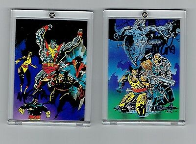 Mike Mignola Signed Wolverine Trading Cards 1992 . Cable And X-Men
