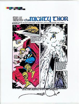 Thor Production Art Transparencies Signed by Walt Simonson #351 Page #1 Rare