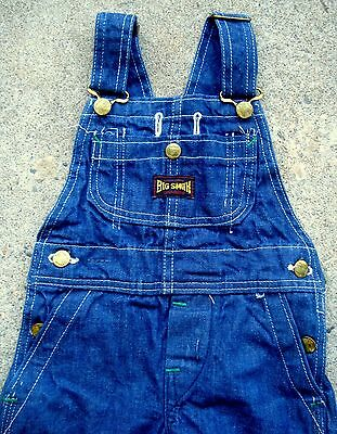 VINTAGE 60's 70's Big Smith kids overall UNION MADE SANFORIZED