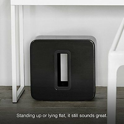 Wireless Subwoofer, Sonos SUB The subwoofer for your Sonos speakers (Black)