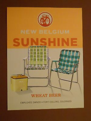 Sunshine Wheat POSTER ~ New Belgium Brewing ~ Colorado beer ~ lawn chairs cooler