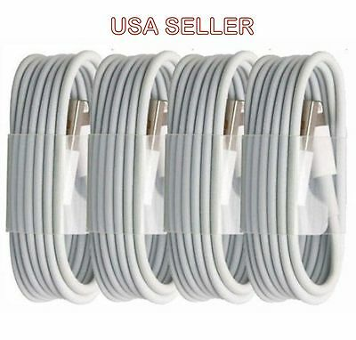 4X OEM Lightning USB Cable For Apple iPhone 5 6s Plus 6 and 7 Data Sync Charger