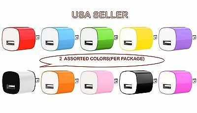 2x 1A USB Power Adapter AC Home Wall Charger US Plug FOR iPhone 5 5S 6 Samsung