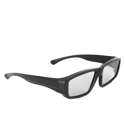 Passive 3D Glasses Black H4 Circular Polarized 3D Viewer Cinema Pub Sky 1pc