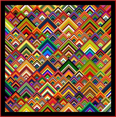 "NEW - PINNACLES - 93"" - Quilt-Addicts Pre-cut Patchwork Quilt Kit King"