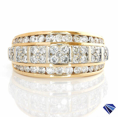 Round Brilliant Cut Natural Diamonds Dress Ring Solid 10K Yellow White Gold Sz O