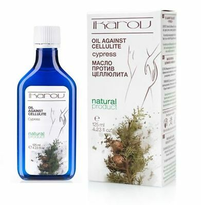 IKAROV - NATURAL ANTI CELLULITE MASSAGE OIL with Pure Cypress Extract - 125 ml.