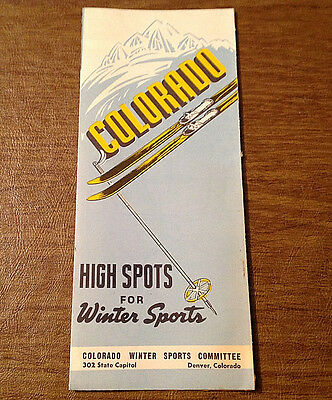 1940s COLORADO High Spots for Winter Sports Brochure CO Winter Sports Committee