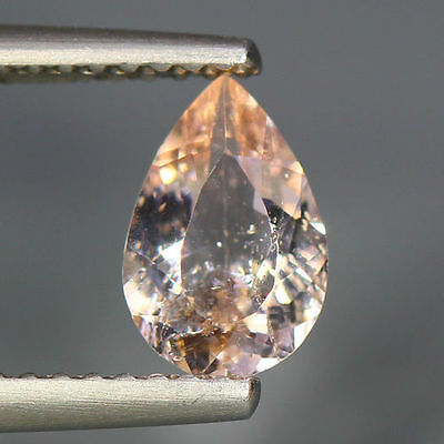 0.78 Cts_Simmering Ultra Nice Color_100 % Natural Peach Pink Morganite_Brazil