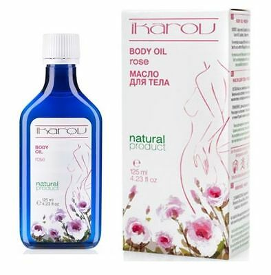 IKAROV - NATURAL MASSAGE BODY OIL - with Pure Bulgarian Rose Extract - 125 ml.