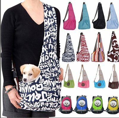 Pet Dog Cat Puppy Carrier Mesh Comfort Travel Tote Shoulder Bag Sling Backpack