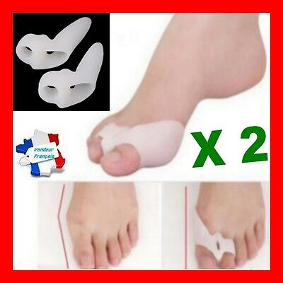 Ortheses X 2 Hallux Valgus 2 DOIGTS Silicone oignons déformation pieds orteils