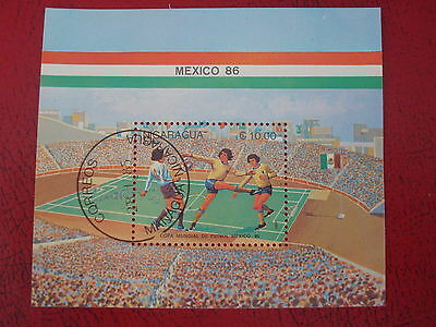 Nicaragua - 1986 World Cup - Minisheet - Unmounted Used - Ex. Condition